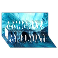 Marble Caves 3 Congrats Graduate 3d Greeting Card (8x4)  by trendistuff