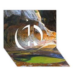 Left Fork Creek Peace Sign 3d Greeting Card (7x5)  by trendistuff