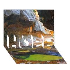 Left Fork Creek Hope 3d Greeting Card (7x5)  by trendistuff