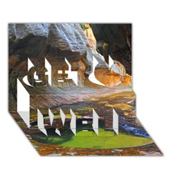 Left Fork Creek Get Well 3d Greeting Card (7x5)  by trendistuff
