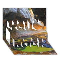 Left Fork Creek You Rock 3d Greeting Card (7x5)  by trendistuff
