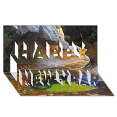 Left Fork Creek Happy New Year 3d Greeting Card (8x4)  by trendistuff
