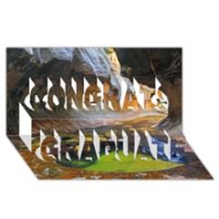 Left Fork Creek Congrats Graduate 3d Greeting Card (8x4)  by trendistuff