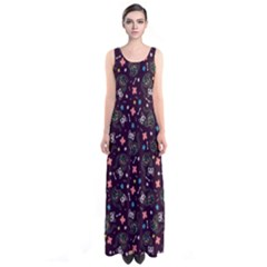 Dia de los Gatos Full Print Maxi Dress