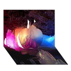 Cave In Iceland Apple 3d Greeting Card (7x5)  by trendistuff