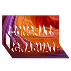 Antelope Canyon 2 Congrats Graduate 3d Greeting Card (8x4)  by trendistuff