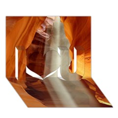 Antelope Canyon 1 I Love You 3d Greeting Card (7x5)  by trendistuff