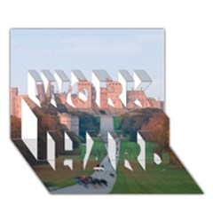 Windsor Castle Work Hard 3d Greeting Card (7x5)  by trendistuff