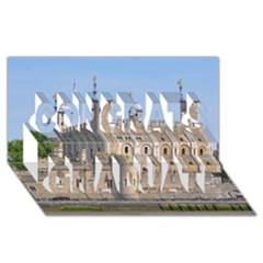 Tower Of London 2 Congrats Graduate 3d Greeting Card (8x4)  by trendistuff
