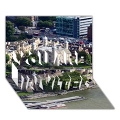 TOWER OF LONDON 1 YOU ARE INVITED 3D Greeting Card (7x5)  by trendistuff