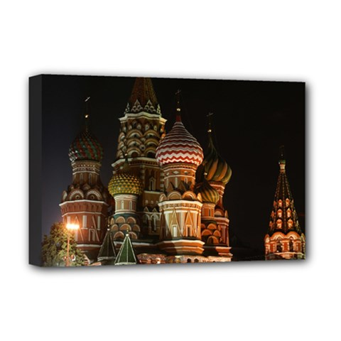 St Basil s Cathedral Deluxe Canvas 18  X 12   by trendistuff