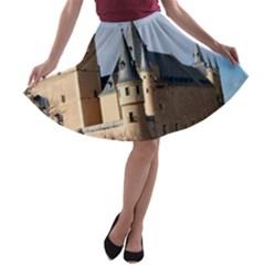 Segovia Castle A Line Skater Skirt