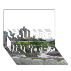 Scotland Eilean Donan You Are Invited 3d Greeting Card (7x5)  by trendistuff