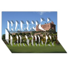 Powis Castle Terraces Happy Birthday 3d Greeting Card (8x4)  by trendistuff