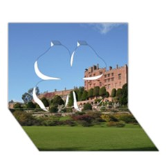 Powis Castle Terraces Clover 3d Greeting Card (7x5)  by trendistuff