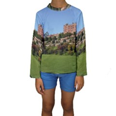 Powis Castle Terraces Kid s Long Sleeve Swimwear by trendistuff