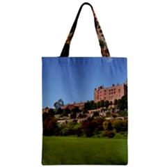 Powis Castle Terraces Zipper Classic Tote Bags by trendistuff