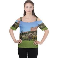 Powis Castle Terraces Women s Cutout Shoulder Tee by trendistuff