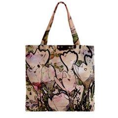 Art Studio 7216 Zipper Grocery Tote Bags by MoreColorsinLife