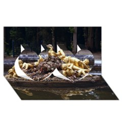 Palace Of Versailles 3 Twin Hearts 3d Greeting Card (8x4)  by trendistuff