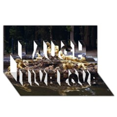 Palace Of Versailles 3 Laugh Live Love 3d Greeting Card (8x4)  by trendistuff
