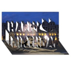 Palace Of Versailles 2 Happy Birthday 3d Greeting Card (8x4)  by trendistuff