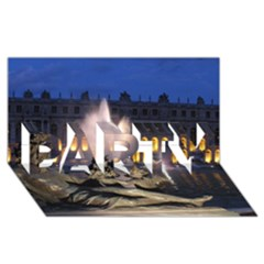 Palace Of Versailles 2 Party 3d Greeting Card (8x4)  by trendistuff
