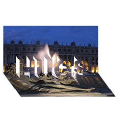 Palace Of Versailles 2 Hugs 3d Greeting Card (8x4)  by trendistuff