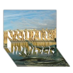 Palace Of Versailles 1 You Are Invited 3d Greeting Card (7x5)  by trendistuff