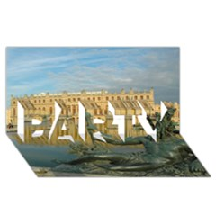 Palace Of Versailles 1 Party 3d Greeting Card (8x4)  by trendistuff