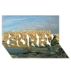 Palace Of Versailles 1 Sorry 3d Greeting Card (8x4)  by trendistuff