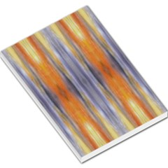 Gray Orange Stripes Painting Large Memo Pads by Costasonlineshop