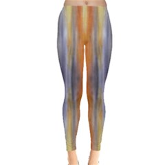 Gray Orange Stripes Painting Women s Leggings by Costasonlineshop