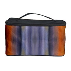 Gray Orange Stripes Painting Cosmetic Storage Cases by Costasonlineshop