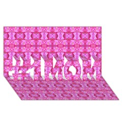 Pretty Pink Flower Pattern #1 Mom 3d Greeting Cards (8x4)  by Costasonlineshop