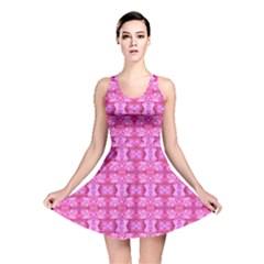 Pretty Pink Flower Pattern Reversible Skater Dresses by Costasonlineshop