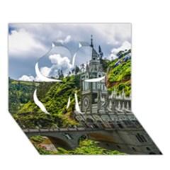 Las Lajas Sanctuary 1 Clover 3d Greeting Card (7x5)  by trendistuff