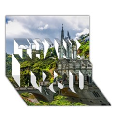 LAS LAJAS SANCTUARY 1 THANK YOU 3D Greeting Card (7x5)  by trendistuff