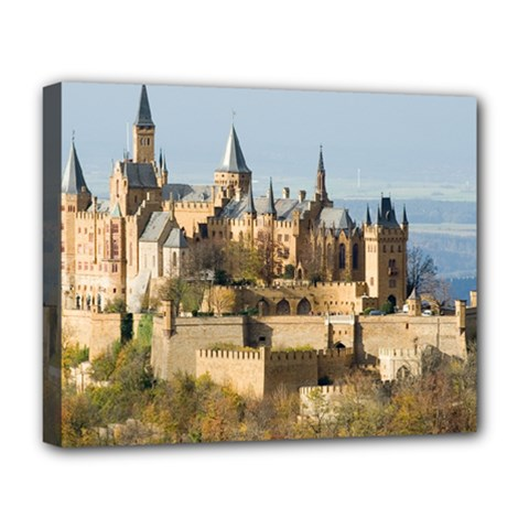 Hilltop Castle Deluxe Canvas 20  X 16   by trendistuff