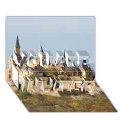 Hilltop Castle You Are Invited 3d Greeting Card (7x5)  by trendistuff