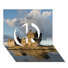Eilean Donan Castle Peace Sign 3d Greeting Card (7x5)  by trendistuff