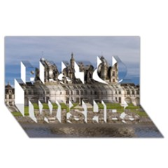Chambord Castle Best Wish 3d Greeting Card (8x4)