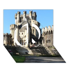 Butron Castle Peace Sign 3d Greeting Card (7x5)  by trendistuff