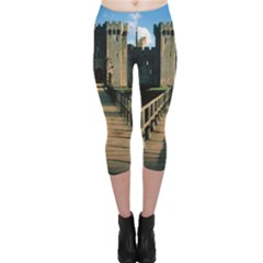 Bodiam Castle Capri Leggings by trendistuff