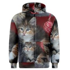 Comfy Kitty Men s Zipper Hoodies by trendistuff