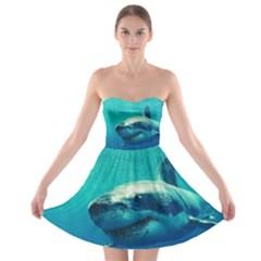 GREAT WHITE SHARK 1 Strapless Bra Top Dress by trendistuff