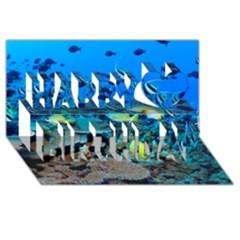 Fr Frigate Shoals Happy Birthday 3d Greeting Card (8x4)  by trendistuff