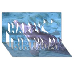 DOLPHIN 2 Happy Birthday 3D Greeting Card (8x4)  by trendistuff