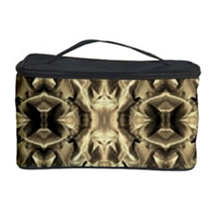 Gold Fabric Pattern Design Cosmetic Storage Cases by Costasonlineshop