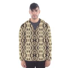 Gold Fabric Pattern Design Hooded Wind Breaker (men) by Costasonlineshop